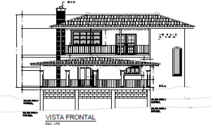 Elevation Drawing of House